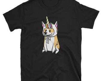 Funny Unicorn Corgi T-Shirt, Cute Corgi Gifts