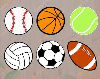 Sport balls Svg, Baseball svg, basketball, soccer, tennis svg Dxf, Eps & Png Cutfiles, Sport balls for Cricut, Silhouette cameo, sport ball