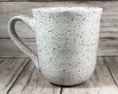 Farmhouse Mug, Handmade Mug, Ceramic Mug, Speckled Pottery, Mothers Day, Shabby Chic, Coffee Mug, Coffee Gift, Pottery Mug, Girly Mug
