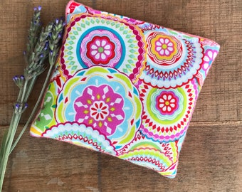 Microwave Bean Bag - Lavender Heating Pad - Microwavable Pad - Peppermint Hot Pack - Flax Seed Bag - Hot Pack - Cold Pack - Aromatherapy Pad