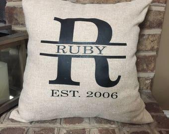 Family Monogram Pillow Cover