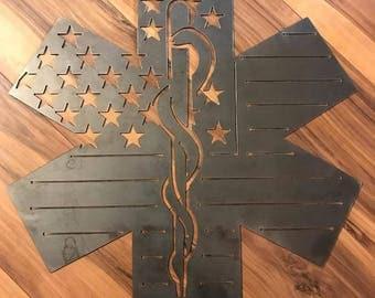 EMS Star of Life Flag with Caduceus
