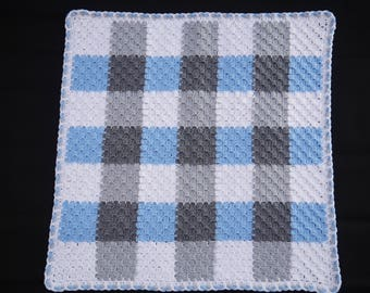 Hand made crochet Baby Blanket (66cm/26inches square)