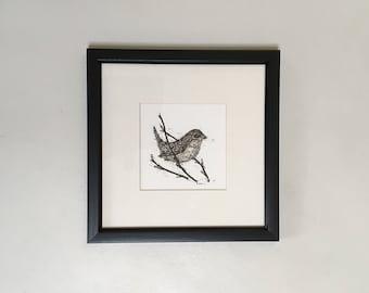 Little Wren. Original Painting. Wren. Bird Painting. Birds.