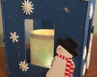 Wood Frames Snowman decoration