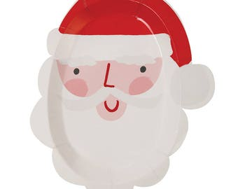 Christmas Paper Plates | Party Plates | Christmas Plates | Santa Plates | Childrens Christmas Plates | Christmas | Plates | Christmas Party