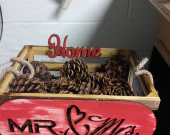Mr and Mrs rustic crate