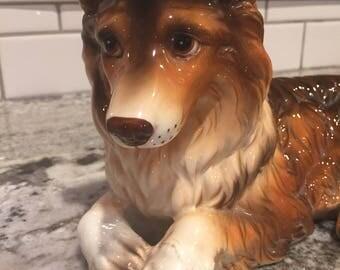 Ceramic Collie Dog
