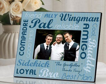 Personalized Best Buds Picture Frame - Best Man Photo Frames - Groomsman Photo Frame - Usher Photo Frame - Wedding Party Gifts - Photo Frame