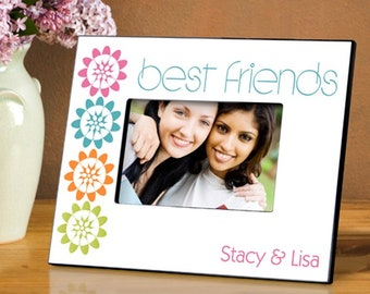 Personalized BFF Picture Frame - Best Friend Photo Frames - Personalized Friend Picture Frames - Best Friend Picture Frames - Friend Frames