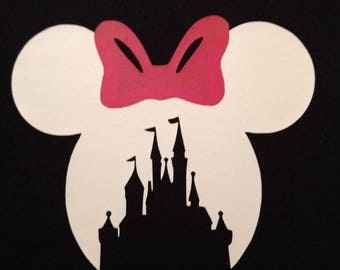Iron on transfers for Magical Vacations,  Iron on Decal, Heat Transfer,  Iron on Vinyl, DIY Iron on  Shirts, Castle with Ears
