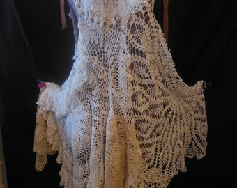 crochet doilie dress