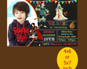Mulan Birthday Invitation, Mulan Invitation, Mulan Birthday, Mulan Party, Mulan Printable, Mulan Instant Download