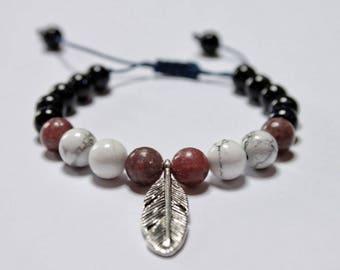 Mala bracelet - Mini Mala (18 bead mala) // healing gemstone bracelet