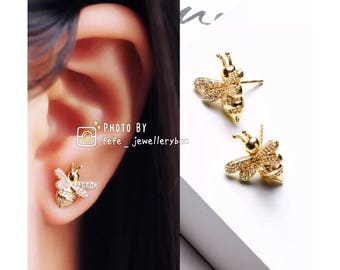Pre order Bee Earrings 18K Gold