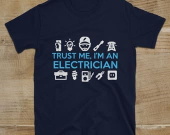 Electrician Gifts T-shirt, Electrician T-shirt, Gift For Him, Handyman Shirt, Electriciaan Engineer Gift Ideas For Electrical Engineer