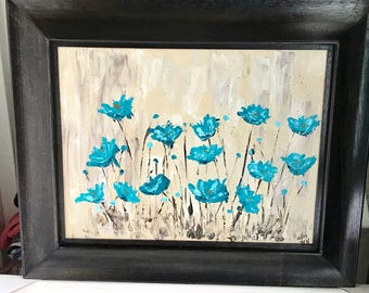 Teal Poppies