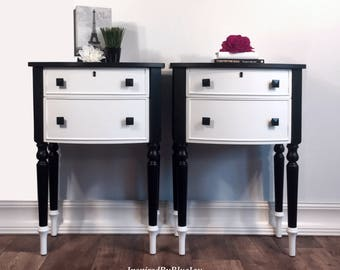 Pair of Nightstands, End Tables, Side Tables - SOLD
