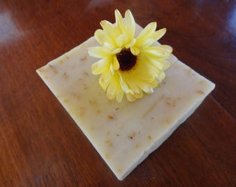 Handmade soap with calendula
