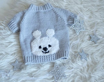 Handmade knitted dog sweater