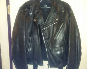 Leather motorcycle jacket