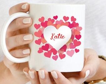 Name With Heart Wreath Mug