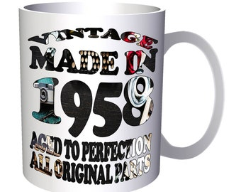 Vintage Original Made in 1958 11oz Mug u682
