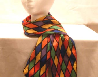 Multi-colored long scarf