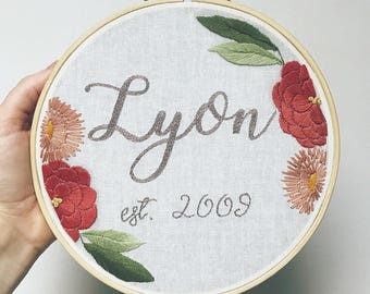 Custom Name Embroidery