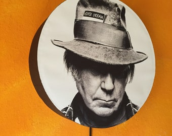 Posterlampe Neil Young