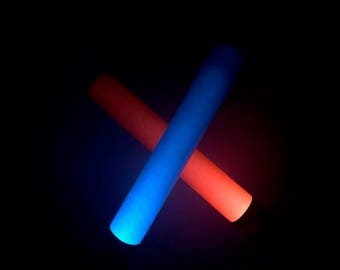 10 Light-up Foam Party Favor Light Sabers