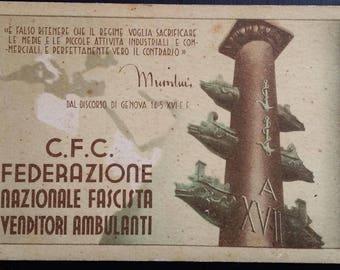 Federation Card Fascists itinerant vendors