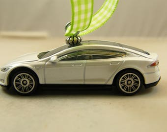 Tesla - FREE SHIPPING - Valentines Ornament - Model S - a man cave or she shed must