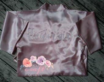 Satin Flower Girl Robe