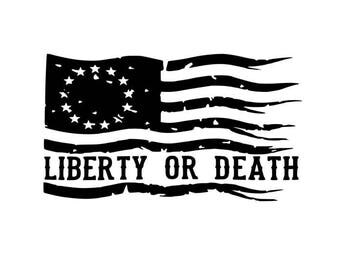 Liberty or Death Flag Graphic