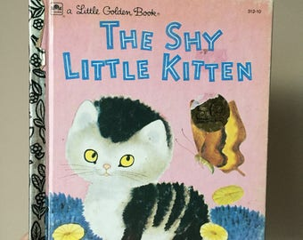 1973 The Shy Little Kitten - Little Golden Book - Vintage and Used Children's Book