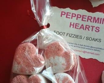 Peppermint Hearts / Foot Fizzies/Soaks