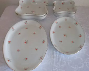 6 large parts Thomas by Rosenthal porcelain old series Gold & Flowers 424140
