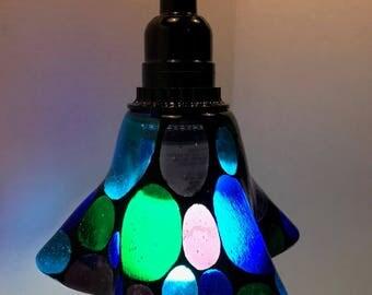 Polka Dot Fused Glass Pendant Light