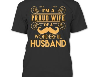 I'm Proud Wife T Shirt, Freaking Awesome Husband T Shirt