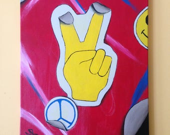Peace Sign Painting