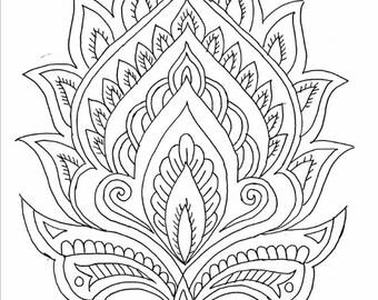 Indian style flower Digital Download