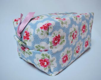 Cath Kidston Provence Rose Waterproof Make-up Toiletry Bag Handmade Sewn Friendship Gift Christmas Stocking Filler Secret Santa