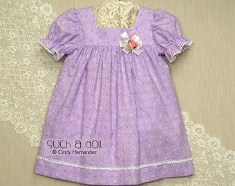 Toddler Girls Dress | Toddler Girl Clothes | Baby Girls Clothing | Yoke Dress | First Birthday | Photo Shoot Dress|Floral Stripe and Rosette