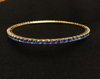 Blue Rhinestone Bangle
