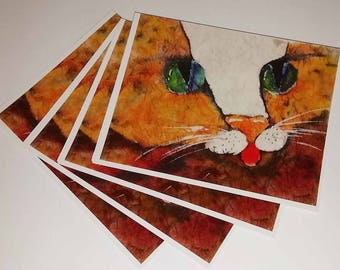 Cards Spotted Kitty 4 notecards Cat Tastic Collection