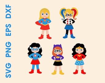 Superheroes SVG Superhero girls Cutting files Cricut Silhouette Instant download