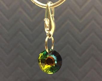 Swarovski Charrm key ring zipper pull bridle charm