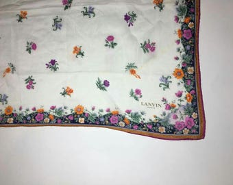 Vintage Lanvin Paris scarve bandanas