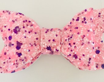 Pink speckle Bow